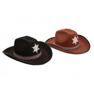 Kovbojové-divoký západ - Klobouk Sherif hnědý