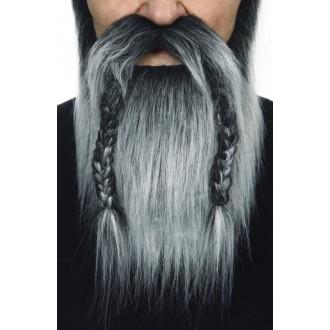 Karnevalové doplňky - Plnovous viking černošedý