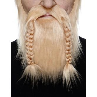 Karnevalové doplňky - Plnovous viking blond