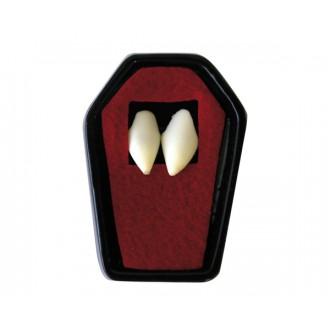Halloween, strašidelné kostýmy - Upíří zuby s lepidlem