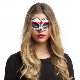 Masky - Škraboška bílo červená