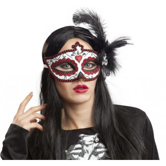 Masky - Škraboška s peřím