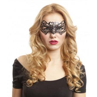 Masky - Škraboška černá s kamínky