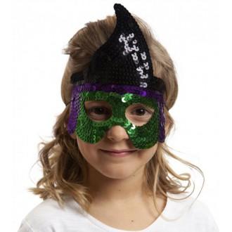 Masky - Škraboška dětská čarodějnice
