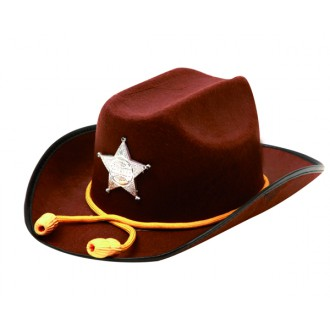 Kovbojové-divoký západ - Klobouk Sheriff se šňůrkou