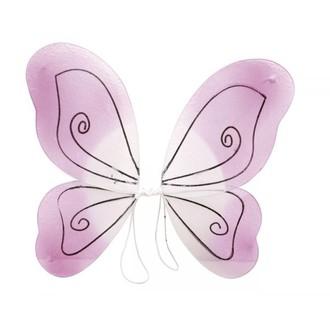 Karnevalové doplňky - Křídla Růžová