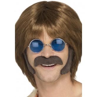 Hippie - Kotlety a knír Hippie hnědé