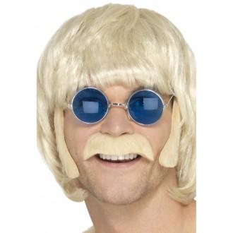 Hippie - Kotlety a knír Hippie blond