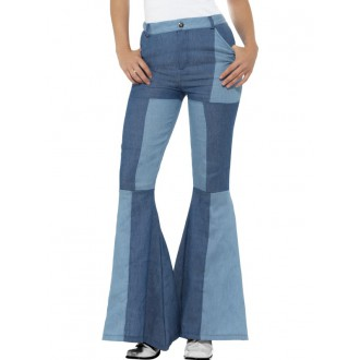 Hippie - Kalhoty Hippie, dámské patchwork
