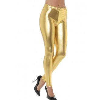Karnevalové doplňky - Legíny zlaté, lesklé
