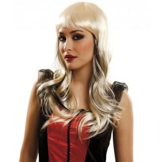 Paruky - Paruka blond s černými pramínky
