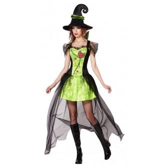 Čarodějnice - Kostým zelená Čarodějnice
