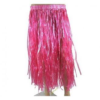 Havajská párty - růžová havajská sukně 70cm