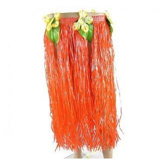 Havajská párty - oranžová havajská sukně 70cm