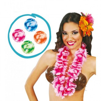 Havajská párty - levný havajský květinový věnec - zelený