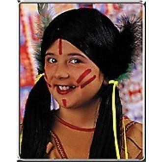 Indiáni - dětská paruka indiánky