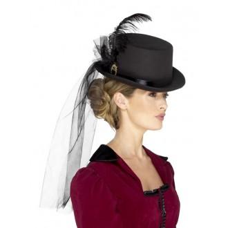 Klobouky-čepice-čelenky - Dámský viktoriánský klobouk