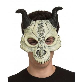 Mikuláš - Čert - Anděl - Obličejová maska Čertovská lebka