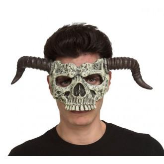 Mikuláš - Čert - Anděl - Obličejová maska Čert-lebka