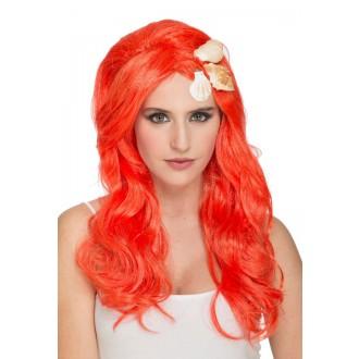 Paruky - Paruka Mořská víla oranžová