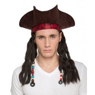 Klobouky,čepice.. - pirátský klobouk s dredy
