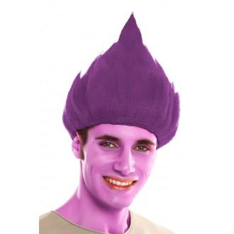 Paruky - Paruka Troll purpurová