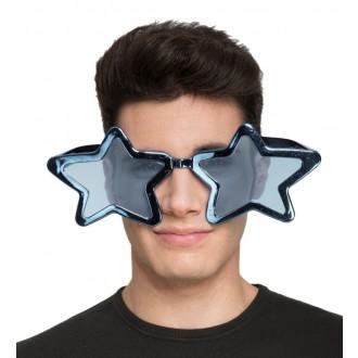 Karnevalové doplňky - Brýle Velké modré hvězdy
