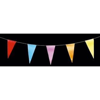 Karnevalové doplňky - Girlanda s trojúhelníky 25 x 1000 cm