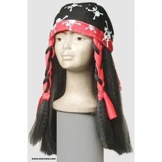 Paruky - Šátek s vlasy Pirátka