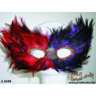 Masky - Škraboška Péřová obyčejná