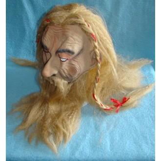 Historické kostýmy - Maska s vlasy Viking