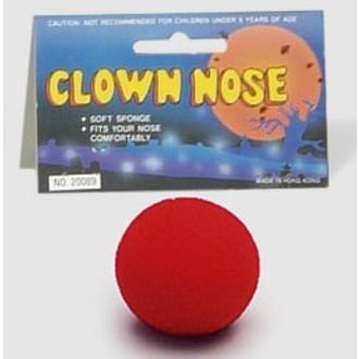 Karnevalové doplňky - Molitanový klaunský nos červený