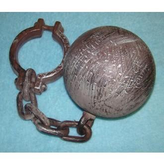 Karnevalové doplňky - Vězeňská koule s řetězem