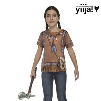 Kostýmy - Dětské tričko 3D Indiánka