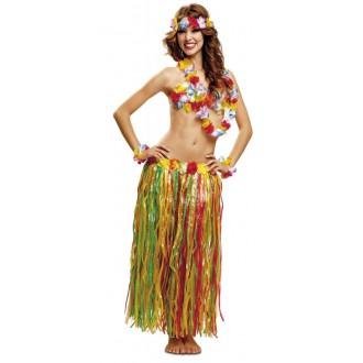 Havajská párty - Sada Hawaj barevná sukně