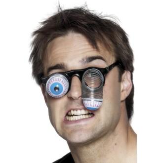 Karnevalové doplňky - Brýle s očima na pružině
