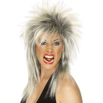 Paruky - Paruka Rock Diva blond/černá