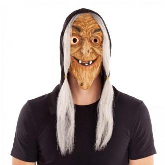 Masky - Maska Čarodějnice s vlasy a kapucí