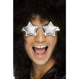 Karnevalové doplňky - Brýle Superstar stříbrné