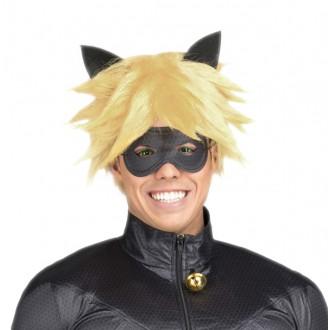 Masky - Paruka a maska Černý kocour