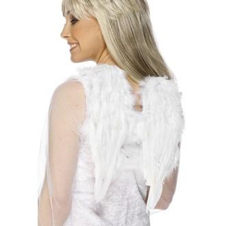 Mikuláš - Čert - Anděl - Křídla péřová bílá 30 x 40 cm