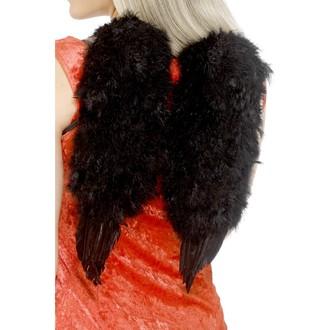 Karnevalové doplňky - Křídla péřová černá 30 x 40 cm