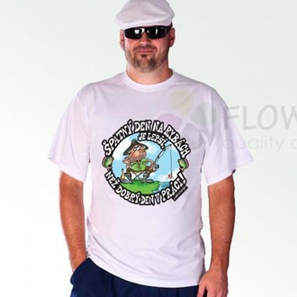 Dárečky-žertíky-hry-ptákoviny - Tričko Špatný den na rybách