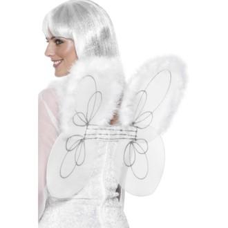 Mikuláš - Čert - Anděl - Křídla bílá síťka s chmýřím