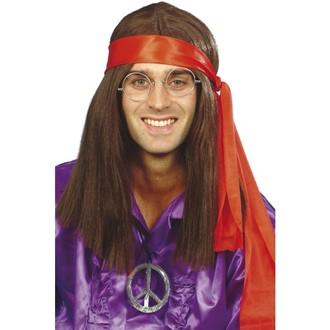 Hippie - Paruka, šátek, přívěšek Hippiesák