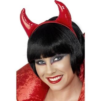 Karnevalové doplňky - Čertovské rohy PVC červené