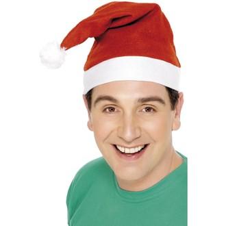 Klobouky-čepice-čelenky - Čepice Santa červená