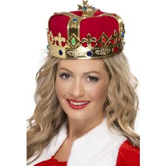 Karnevalové doplňky - Koruna pro královnu zlaté PVC