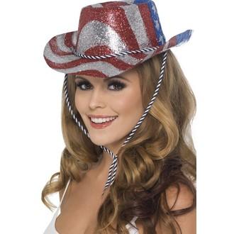 Klobouky-čepice-čelenky - Klobouk Kovboj glitter USA