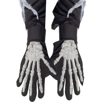 Halloween, strašidelné kostýmy - Rukavice kostlivec vystupující kosti
